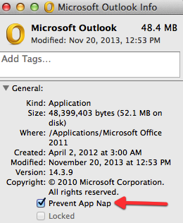 Outlook 2011 for mac