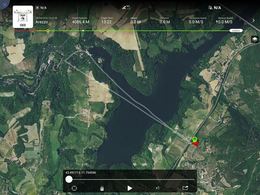 arezzo (tuscany) drone flypath
