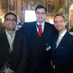 Dr. Gege Gatt with Google's President Carlo d'Asaro Biondo and Longbeard's CEO Matthew Sanders
