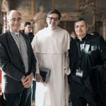 Fr. Michael Czerny, Under-Secretary of the Migrants and Refugees Section at the Holy See, Fr. Eric Salobir founder of Optic, and Monsignor Lucio Ruiz.