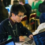 Students participating in the Vatican Hackathon