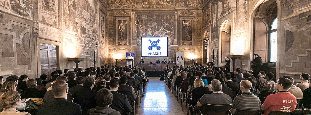 Official Opening of the Hackathon at Palazzo della Cancelleria, the former Apostolic Chancery of the Pope